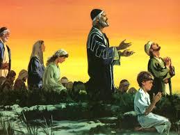 Ezra praying